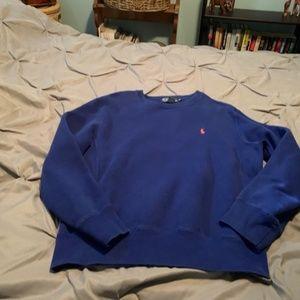 RALPH LAUREN Men's Bright Blue Sweatshirt. Size M